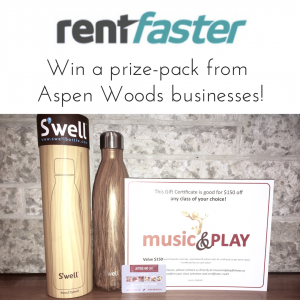 Rentfaster Aspen Woods Prize Pack