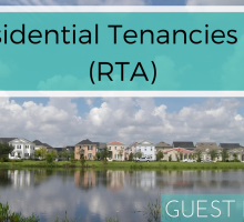 Residential Tenancies Act ( RTA)