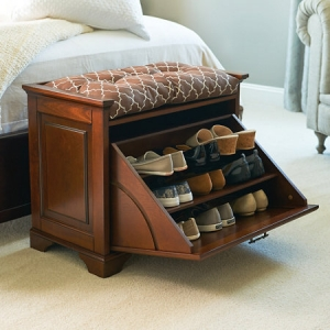 Essex Tiltout Shoe Bench - Multipurpose Furniture