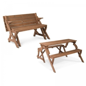 Folding Picnic Table and Bench - Multipurpose Furniture