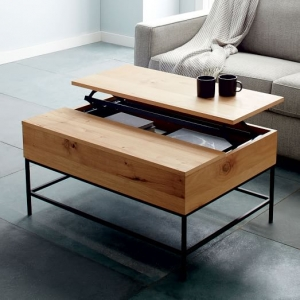Industrial Storage Coffee Table - Multipurpose Furniture