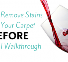 How to Remove Stains from Your Carpet Before a Rental Walkthrough