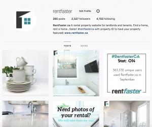 Instagram Page - Rental Property Attention