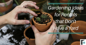 Gardening Ideas for Rentals that Don't Have a Yard