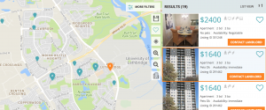 Map feature - Rental Search