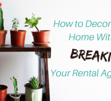 How to Decorate Your Home Without Breaking Your Rental Agreement